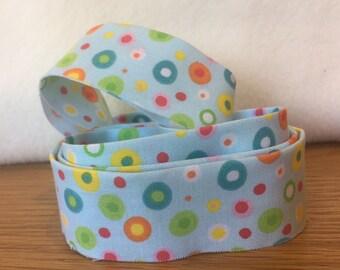 Cotton Quilt Binding- Multicoloured Spot