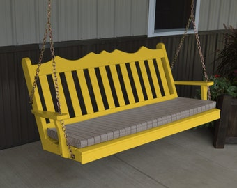 Porch Swing Royal English Style - Options 2', 4', 5' or 6' - Free Shipping