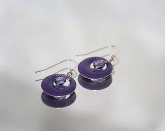 Purple Metal Earrings