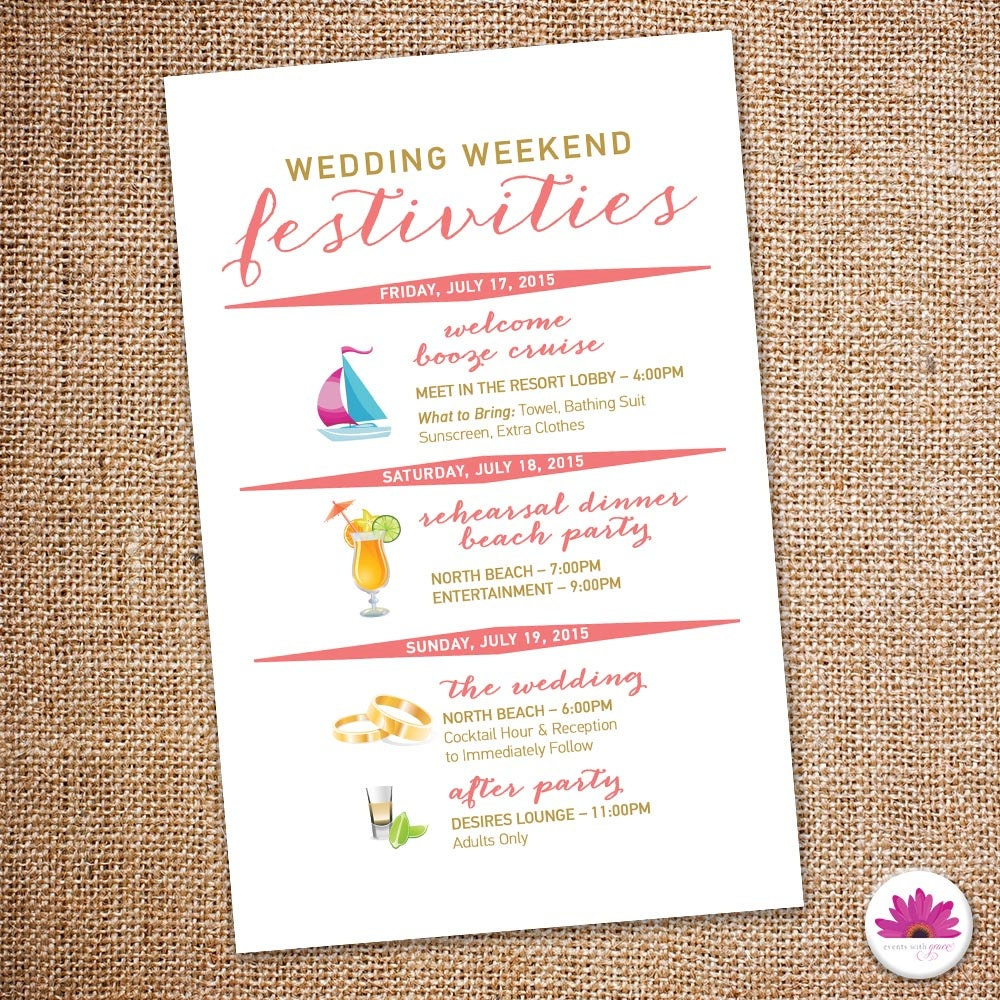 destination wedding itinerary template - Kubre.euforic.co