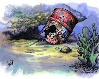 Le crabe Obi, impression d'art d'archives