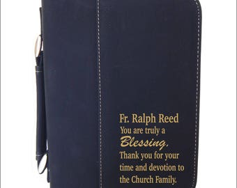 Catholic Priest Gifts - Gift for Orthodox Priest - Bible Cover - Lutheran Pastor Gift - Personalized Christian Gift, BCL021