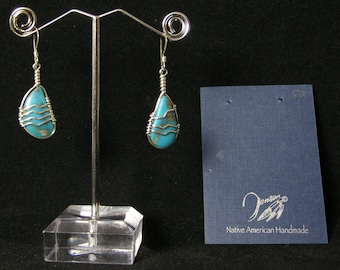 Robin Egg Turquoise Earrings | Native American