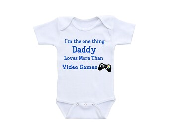 Video Game Baby Onsie or Gerber Onesie® Video Game Onesie® Daddy and Son Daddy Onesie® Daddy Gifts Dad Gifts Baby Onesie Boy Baby Shower