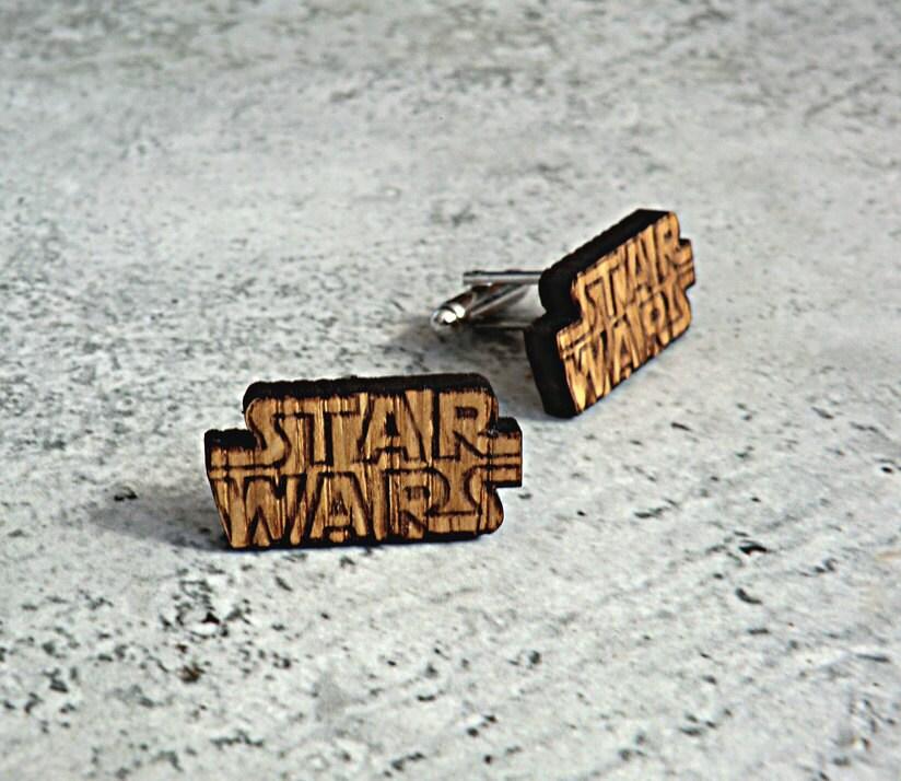 Star wars cufflinks wooden cufflinks groomsmen gift ideas star zoom solutioingenieria Gallery