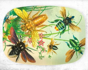 Bees II, insects platter