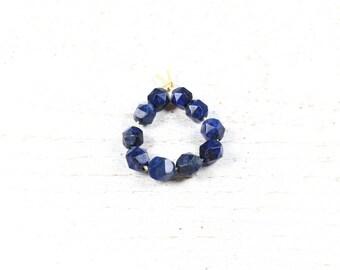 10 lapis lazuli faceted natural 8mm LBP00241