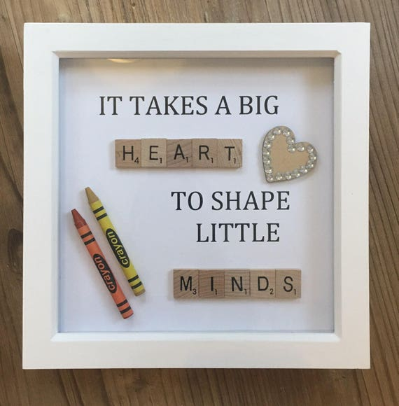 It Takes A Big Heart To Shape Little Minds Teacher Gift Frame