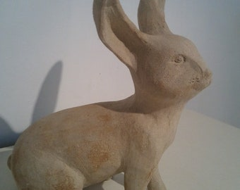 Sculpture of Bunny (large) stoneware