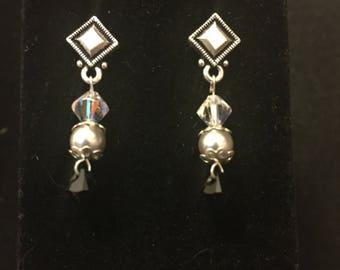 Silver Dangled Earrings