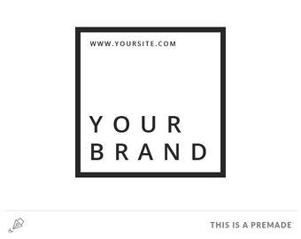 Minimalist Logo - Premade Logo / Blogger Header Design / Premade Blog Header / Black logo / Minimal blog logo