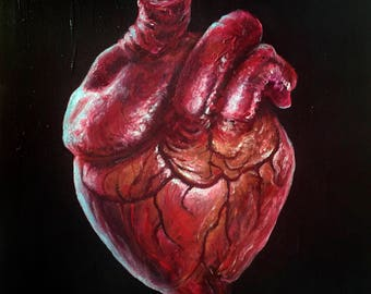 Heart oil painting