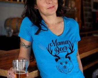 Craft Beer shirt- Mama Beer- V-Neck t-shirt