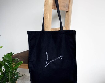 Pisces star sign - Pisces constellation map cotton tote bag - Star map - March birthday - February birthday - Astrology gift - Bag zodiac