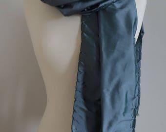 Changing green Shantung silk scarf