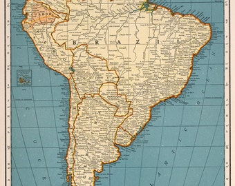 South america map Etsy