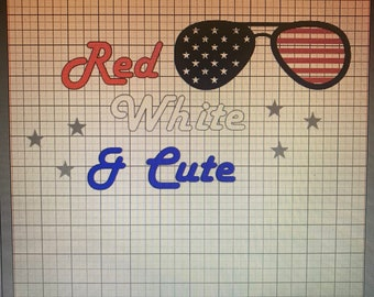 4th of July Red White and Cute Shirt/Custom/Girls