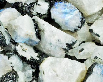 Bulk 1lb Raw Rainbow Moonstone Gemstones, Bulk Wholesale Rough Moonstone Rocks Stones, Raw Rough Gemstones, 1 Pound Gemstone Lot Wholesale