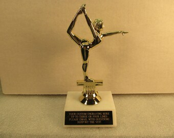 "Gymnastics Modern Dance 7"" Free Custom Engraving Ships 2 Day Priority Mail"
