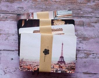 PARIS Notecard Collection, Set of 12 Mini Prints, Paris Photography, Eiffel Tower, Arc de Triomphe, Patisserie, Paris Notelets, Francophone