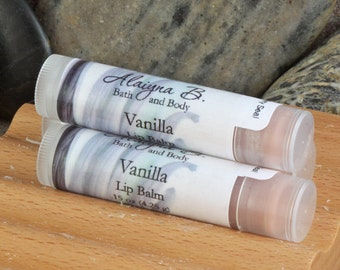 Vanilla Flavored Lip Balm with Moisturizing Shea and Cocoa Butters