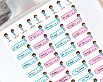 Pregnancy planner stickers w/ 9 mos countdown