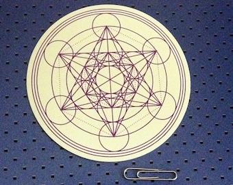 Metatron Cube - Sacred Geometry Bumper Sticker