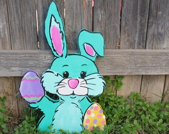 Easter Yard Art Easter Yard Decor  Easter Bunny Outdoor  Outdoor Holiday  Decor  Handmade Easter Decor  Easter Bunny Cutout  Easter Garden