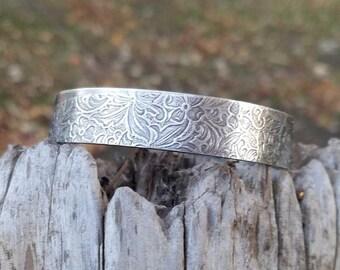 Lacy Sterling Silver Cuff Bracelet.