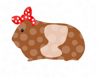 Guinea Pig svg, Cavy svg, cavies, cavy svg file, guinea pig with bandana, bandana svg, small pet svg, rodent svg, cute guinea pig cut file