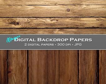 Dark Wooden Boards - Digital Backdrops / Backgrounds - 12x12, CU4CU - Instant Download
