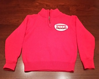 Daniel Tiger Red Trolley Sweater 1/4 Zip Cardigan