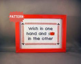 PDF/JPEG Wish in one hand and sh-t in the other (Pattern)