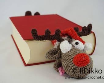 Amigurumi Crochet Pattern - Rudolf the Reindeer Bookmark - English Version