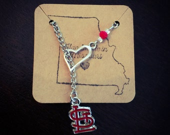 Cardinals heart necklace