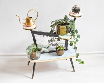 Plant Stand Tiered, Tiered Plant Stand, Plant Stands Indoor, Vintage Plant Stand Kidney Table, Mid Century Coffee Table, Plant Stands, Boho