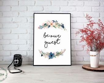 Be Our Guest wall art house decor housewarming gift digital print