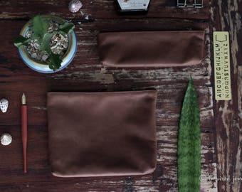 LEATHER PENCIL CASE | leather pen pouch | Leather Pen Case | Pen Holder | Brown Pencil Pouch | Personalized Gift