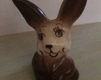 Vintage Walker Pottery brown bunny