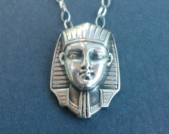 King Tut Egyptian sterling Silver Necklace