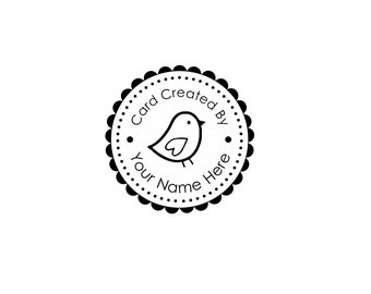 Handle Mounted or Cling Personalized Name custom made rubber stamps Ccb4