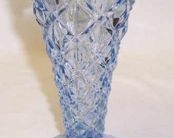 Imperial Glass Light Blue LITTLE JEWEL 6 Inch High Flared Top Vase