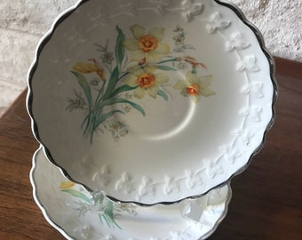 Taylor, Smith and Taylor Daffodil Saucer Duo-As/Is