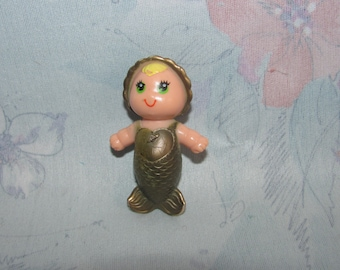 Vintage Kenner Baby Sea Wee Doll - Baby Sail with Gold Body, Green Eyes - Some Paint Wear to Body, Hair - Small