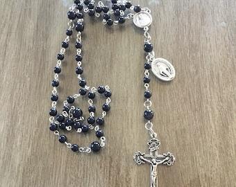 Dark Blue Sparkle Rosary