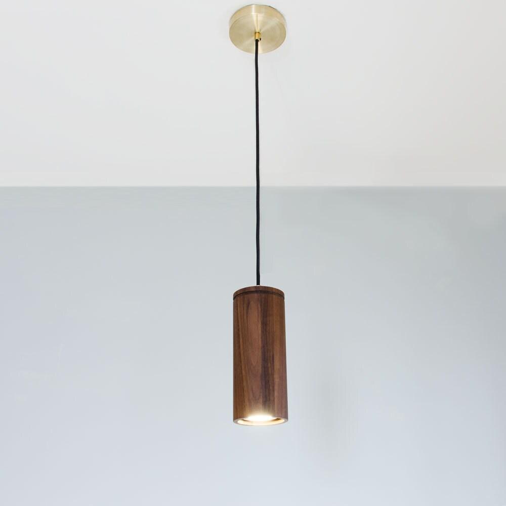 Wood Pendant Lighting Arca LED Linear Pendant Light Wood Lighting G