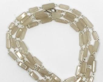 """38"""" quartz tube necklace"""