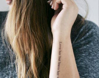 Leave Her Wild - Realistic Temporary Tattoo