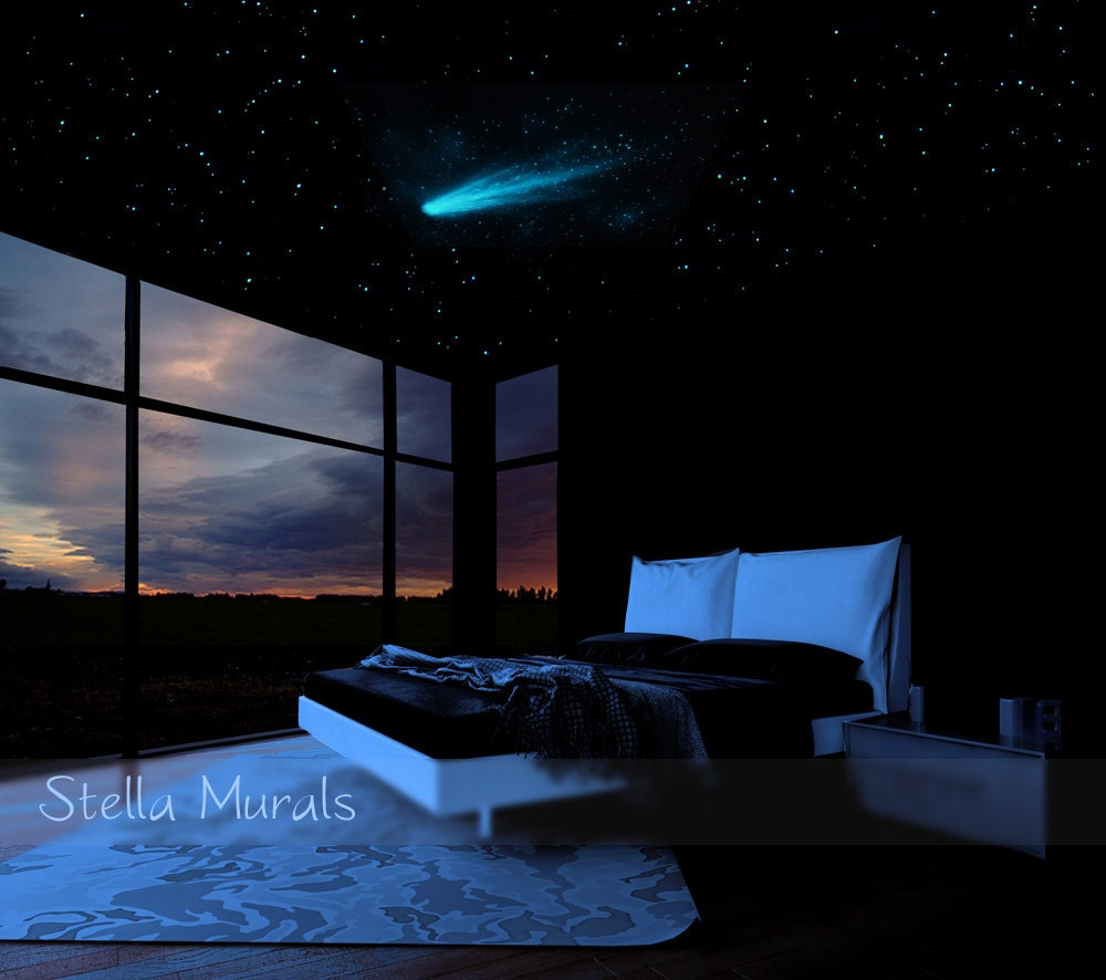 star ceiling comet and shooting stars decals 200 1000