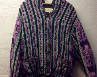 Pretty awesome vintage early 90's south american textile jacket